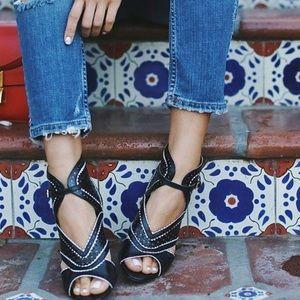 Nine West Black & White Heels